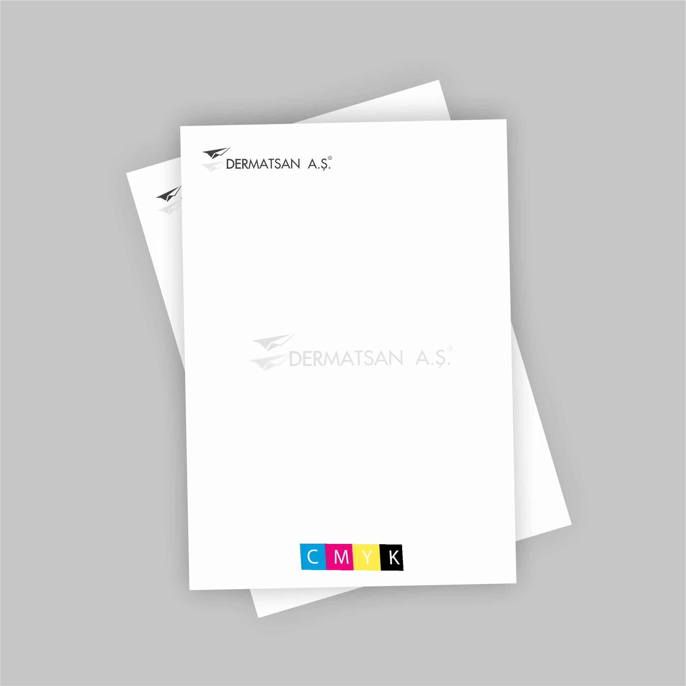 Dört Renk Antetli Kağıt